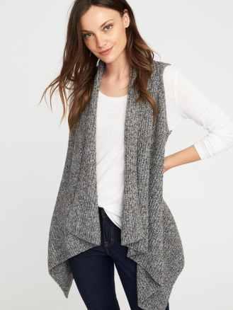 drape front sweater vest