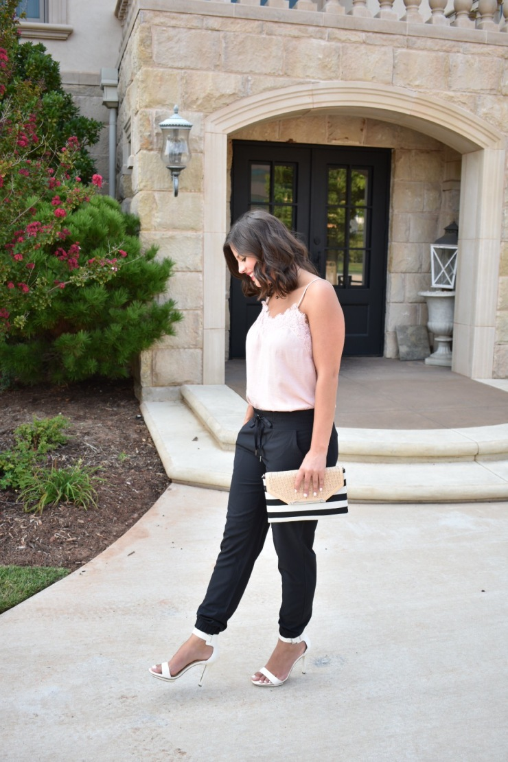 Easy way to style black joggers