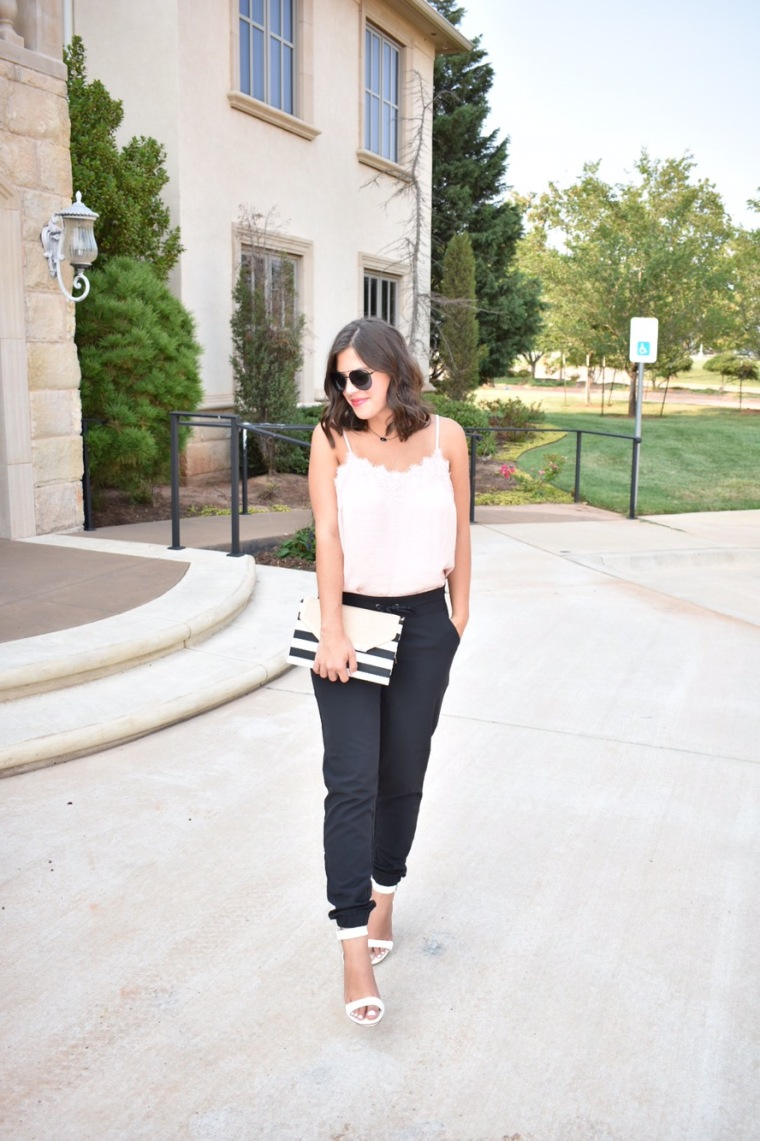Easy Work Look with Black Joggers