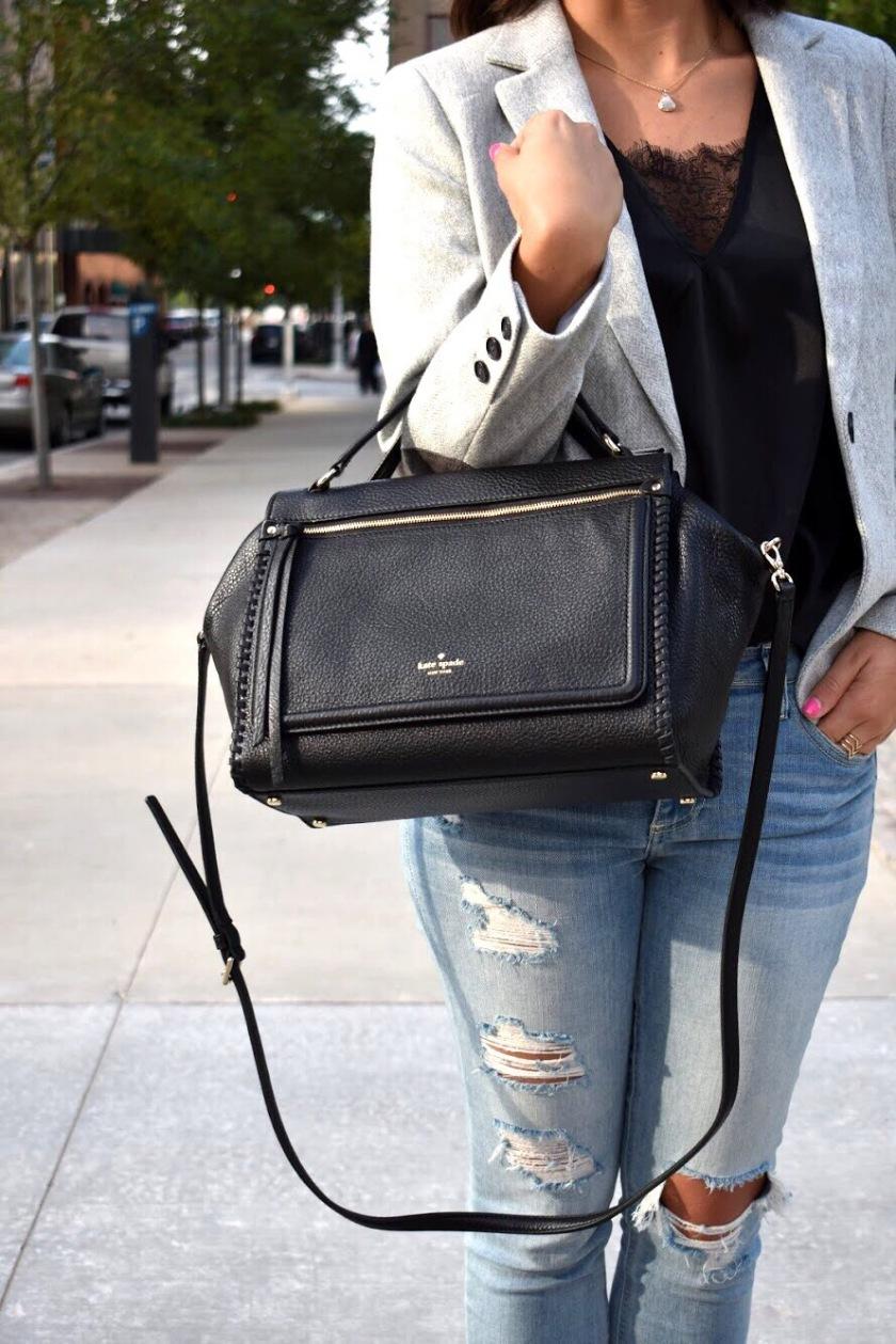 Black Leather Kate Spade