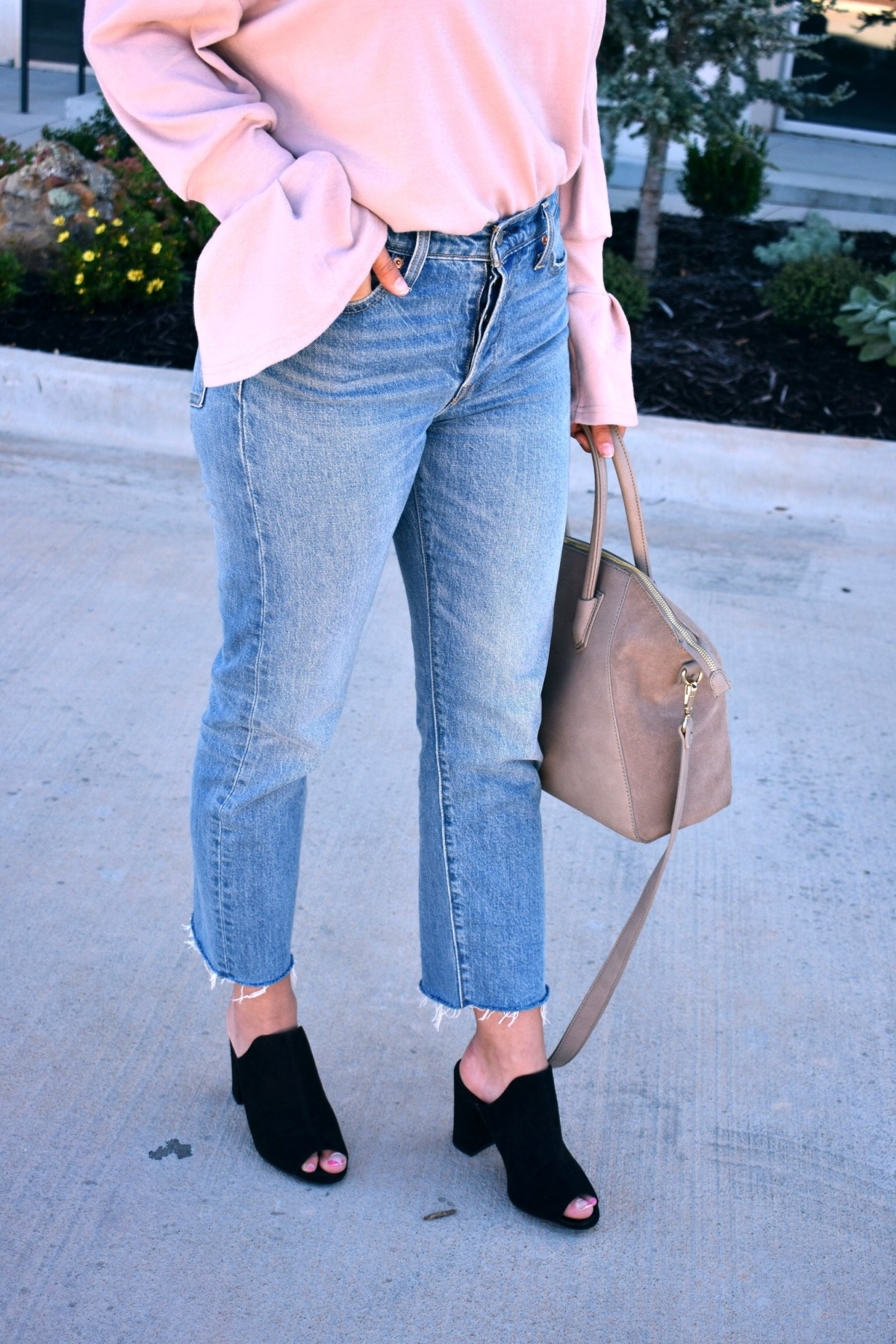Styling Cropped Flare Denim forfall