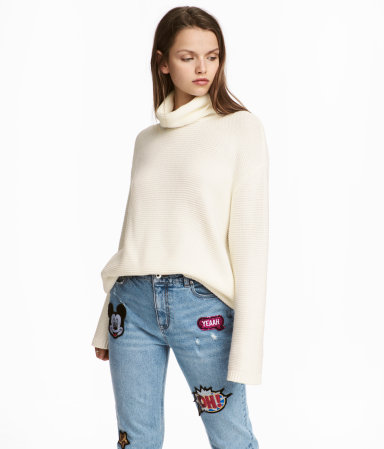 textured knit turtle neck